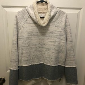 Lou & Grey cowl neck fleece lined sweatshirt M